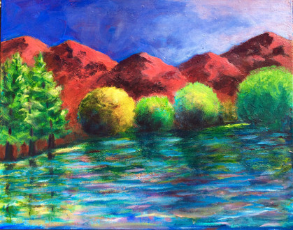Red Mountains 24x30 $480