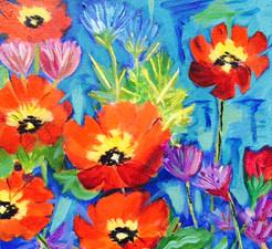 Poppies 12x12 $145