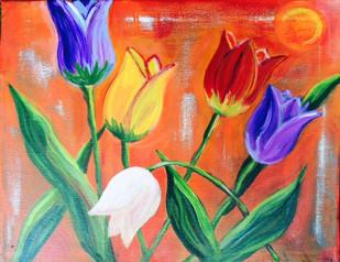 Sunbathing Tulips 11x14 $150