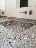 bathroom counter, sink