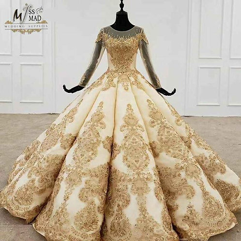 Sequenced heavy wedding gown