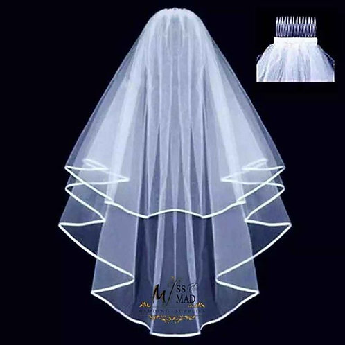 Wedding short veil