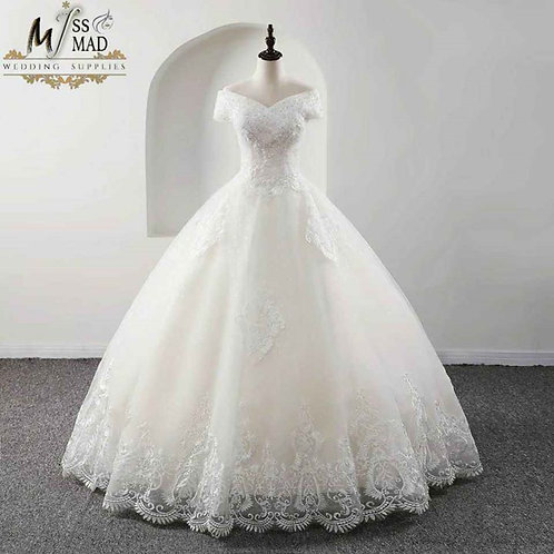 Heavy Lace work wedding gown