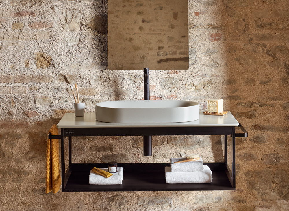 Bathroom basins, modern wall hung