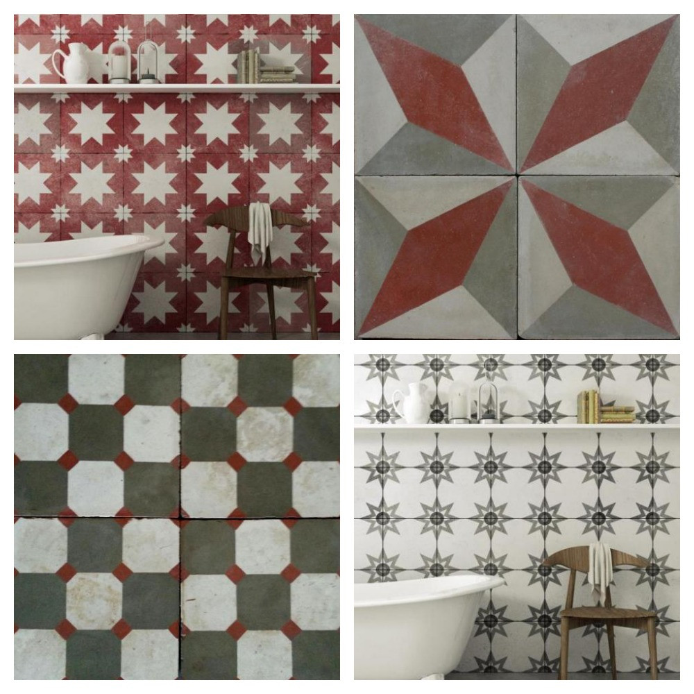 Bert and May reclaimed and encaustic wall and floor tiles
