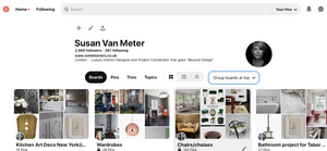 An example of my Pinterest page.