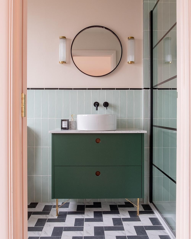 Wall lights for an interior designed bathroom