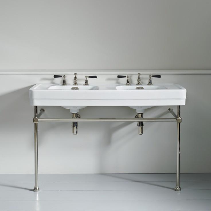 Traditional Art Deco double basins