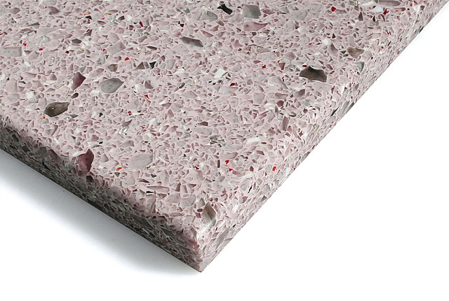 Recycled glass non toxic worktops, for bathrooms and kitchens