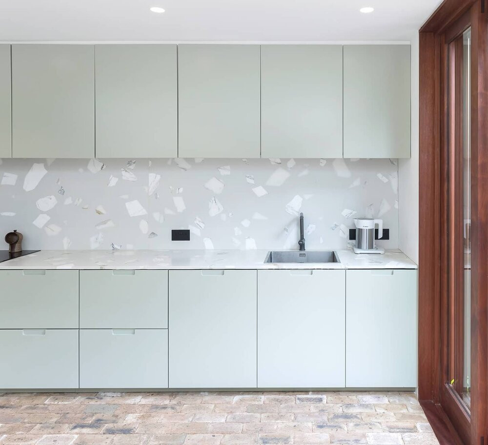 Terrazzo style recycled worktops for bathrooms and kitchens
