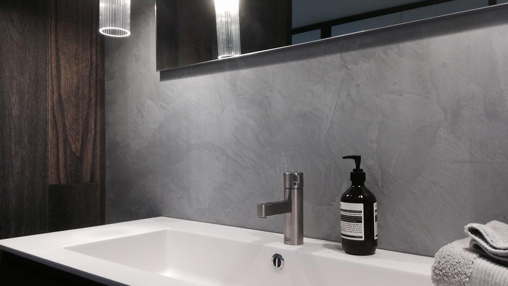 Luxury waterproof plaster wall finish for bathrooms