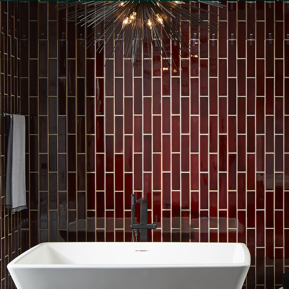 Sustainable bathrooms tiles.