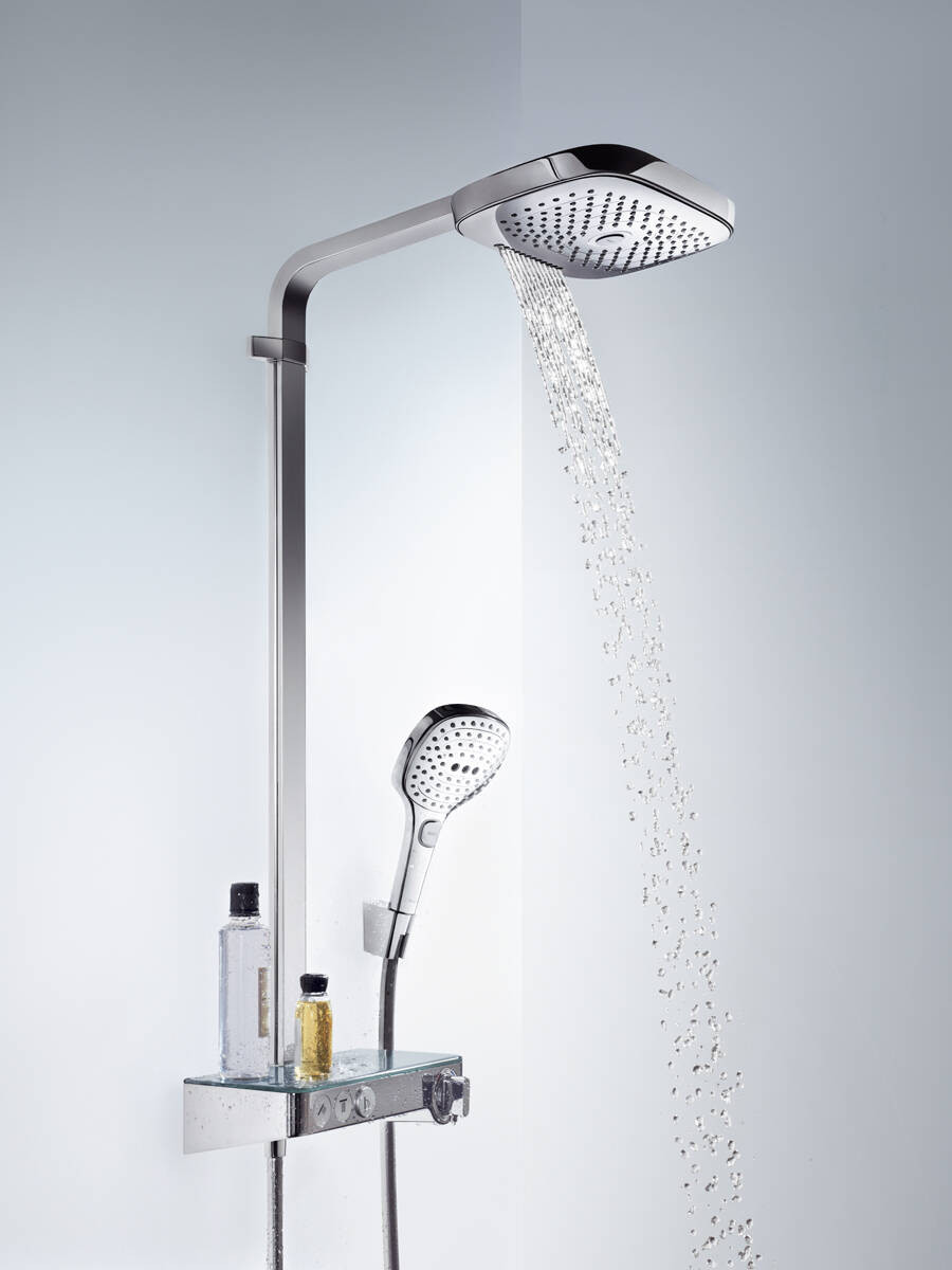 Bathroom renovation water saving shower head