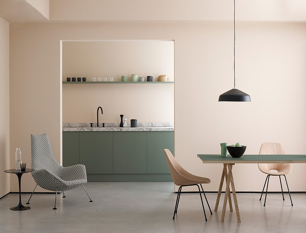 A kitchen painted and interior designed for the home
