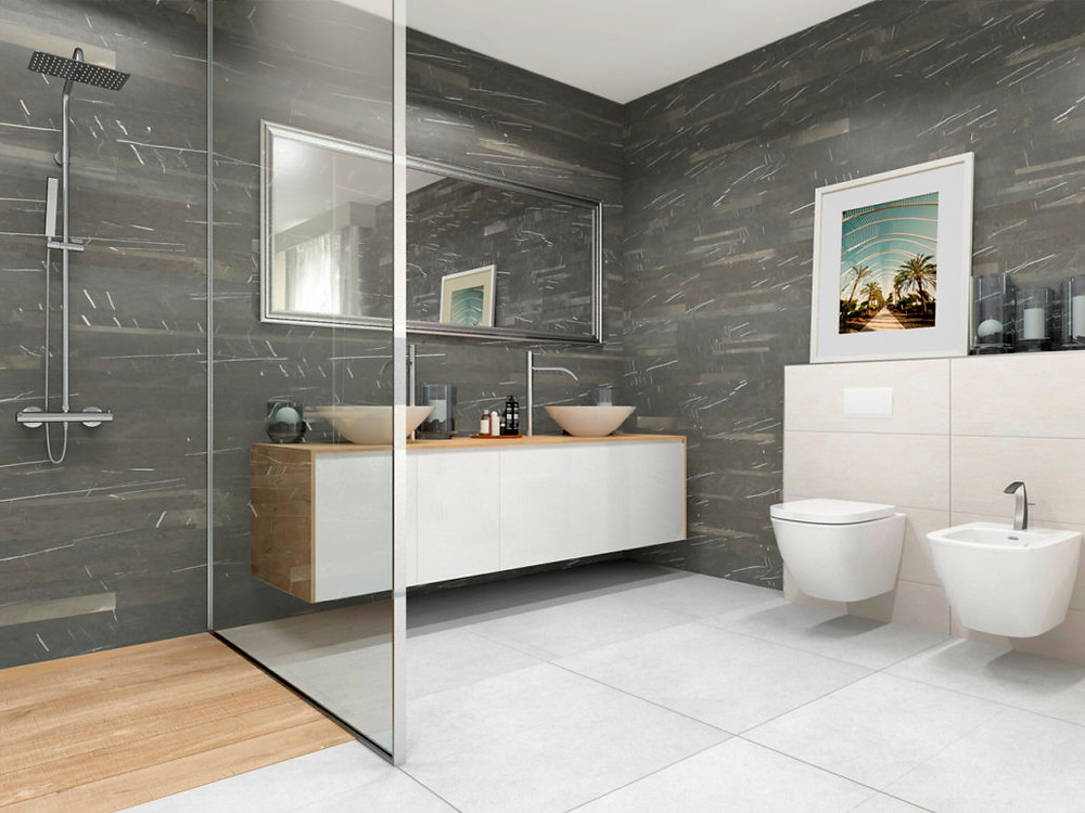 Sustainable marble for bathrooms