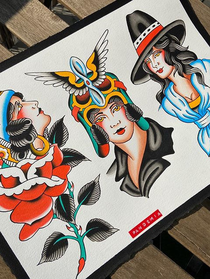 Hundreds of designs ready to tattoo when