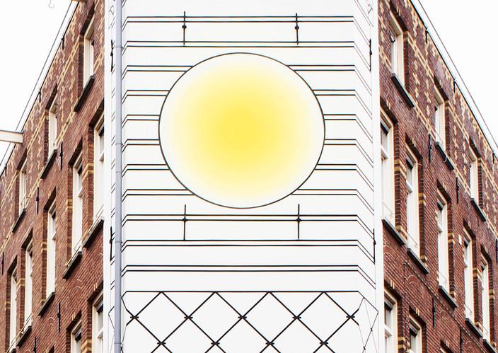 Kostverlorenkade Muurschildering door Aam Solleveld Baken