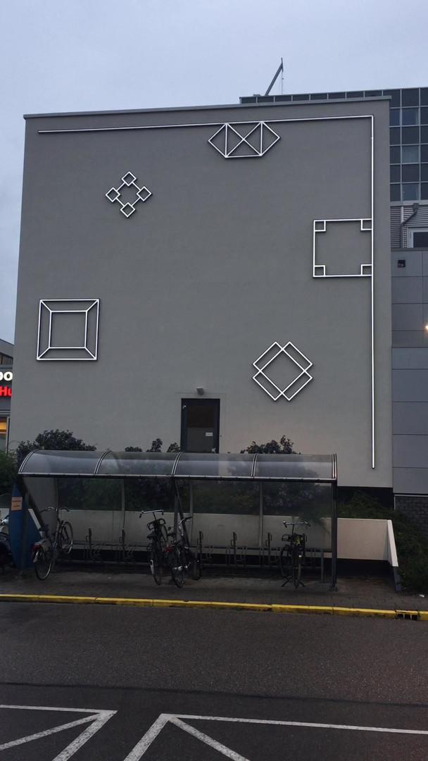 OLVG West, ziekenhuis, lightmural by Aam Solleveld