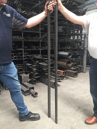 Steel profile for the Bensdorp Artproject