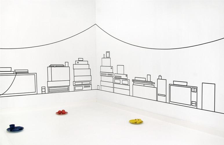 Aam Solleveld Installatie voor Valse Wand