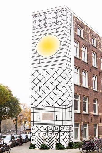 Kostverlorenkade Muurschildering door Aam Solleveld