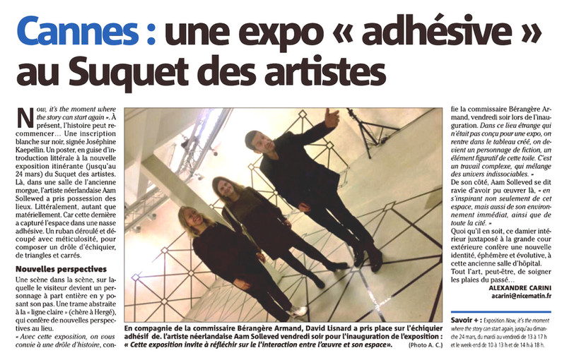 Nice-Matin 030219 Expo Now Suquet Artist