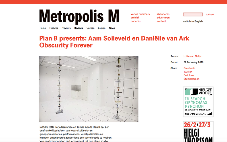 MetropolisM Obscurity forever