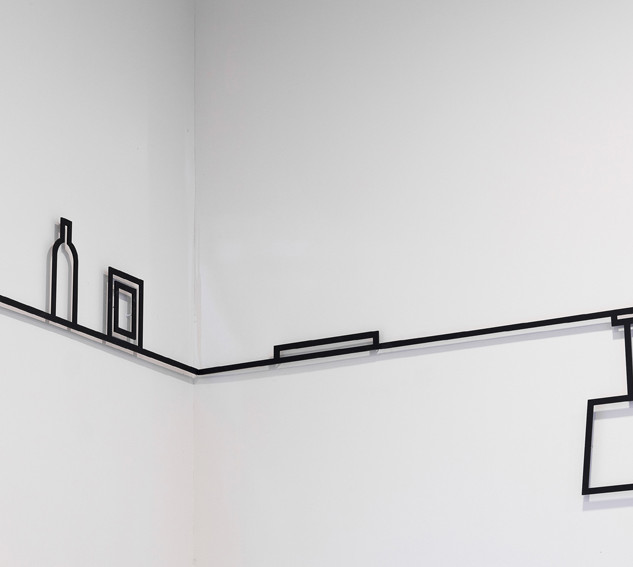 Roosenburg, NL, 2012 A wall drawing made of mat black steel for the psychiatric detention center Roosenburg, Aam Solleveld