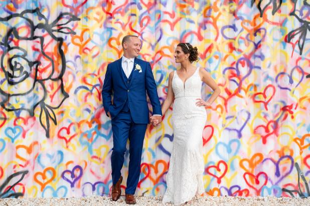 Wedding day Graffiti Wall, Love