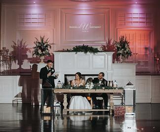 Hamilton Manor Sweet Heart Table Wedding Reception