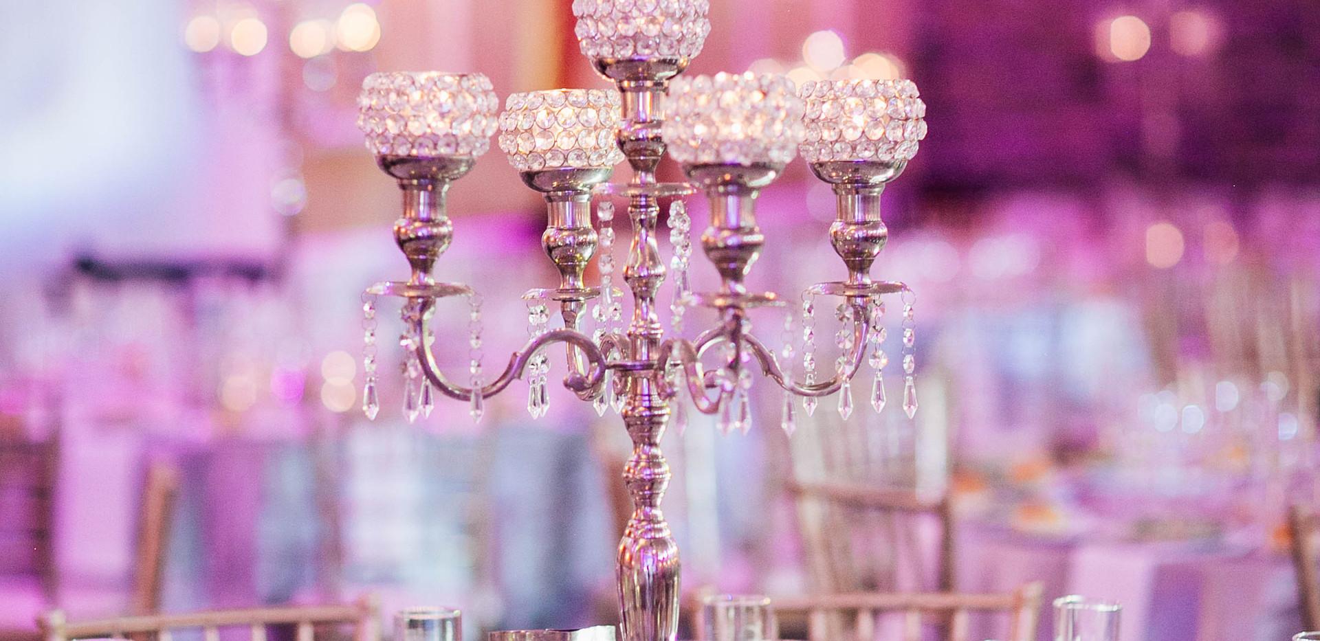 Hmailton Manor Wedding Reception Setting