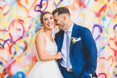 Wedding Graffiti Wall, Wedding Day