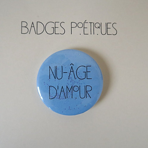 """Badge Poétique """"Nuage n°2"""""""