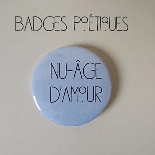 """Badge Poétique """"Nuage n°4"""""""