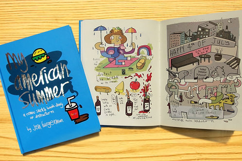 Jon Burgerman My American Summer Book