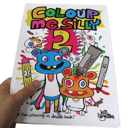 Jon Burgerman Colour Me Silly 2 Doodling Book