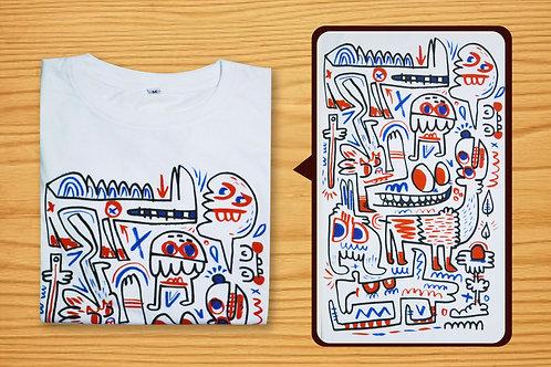 jon burgerman T-shirt ( S / M / L / XL )