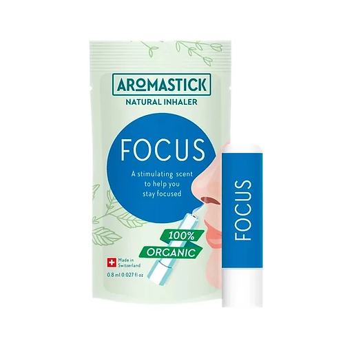 Inalador Nasal Orgânico & Natural Para Foco - Focus
