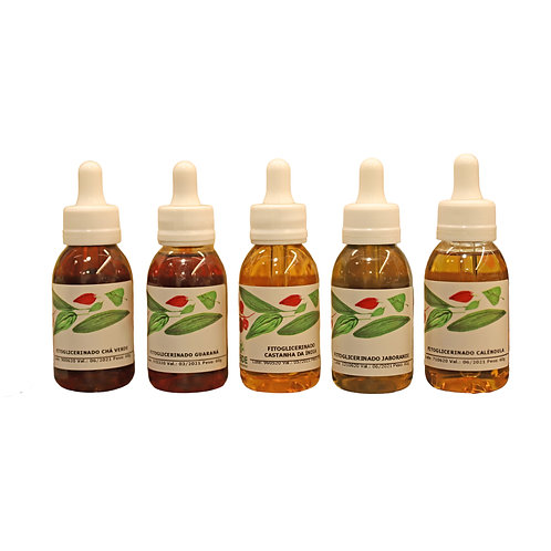 Ecokit com 5 Extratos Fitoglicerinados