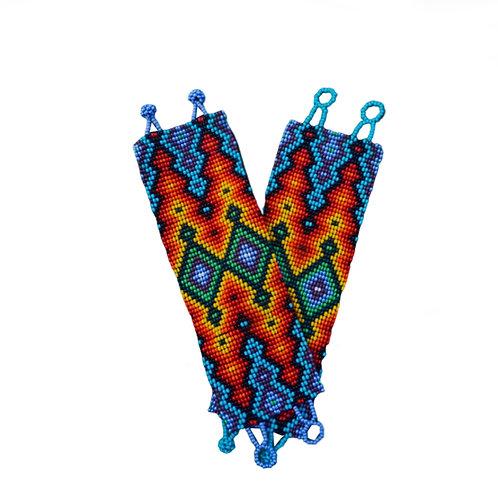 Pulseira Indígena - Arte incaica, grafismo da Cobra