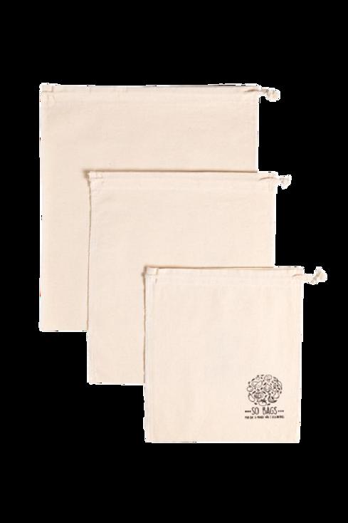 Kit 3 Bags para Compras a Granel