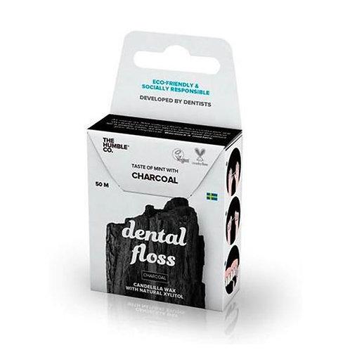 Fio Dental Orgânico Natural Charcoal (carvão) - 50m