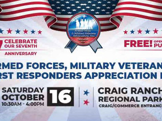 Get Ready! Armed Forces Military Veterans & First Responders 7th Annual Appreciation DayCelebration