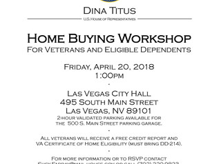 Home Buying Workshop  For Veterans and Eligible Dependents