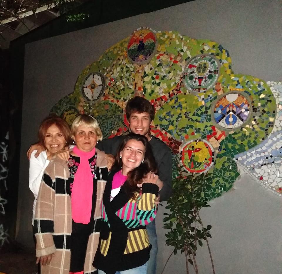Con Nicolaza, y Olga.