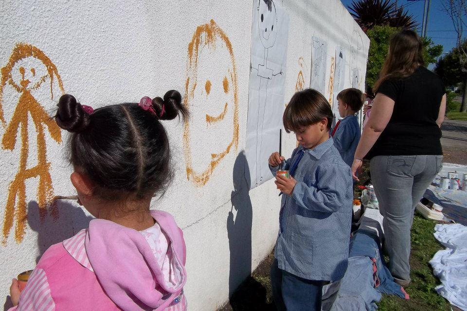 Creando un mural