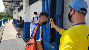 Categoria de base sub-17 do Clube Esportivo retoma treinamentos com medidas restritivas