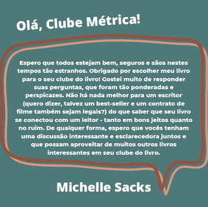 Entrevista com Michelle Sacks