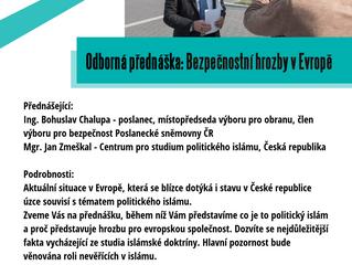 Odborná přednáška: Bezpečnostní hrozby v Evropě