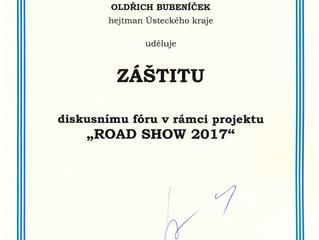 Projektu Road Show 2017 byla udělena záštita hejtmanem Ústeckého kraje